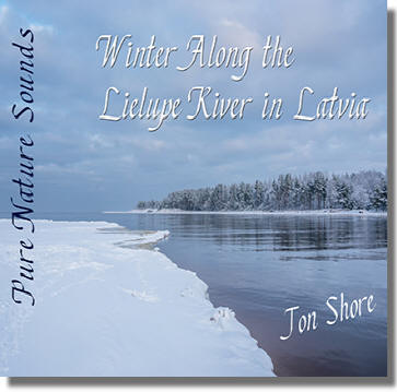 Relax along the Lielupe River in Latvia in Winter